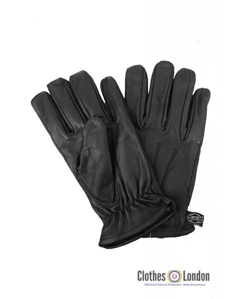 Skórzane rękawiczki z kevlaru MAX FUCHS czarne