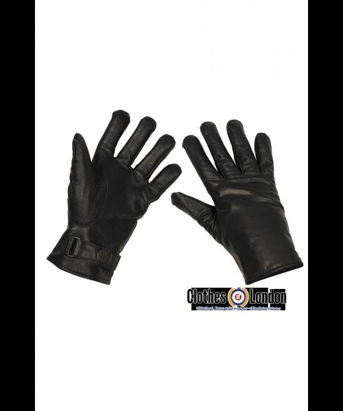 Skórzane rękawiczki Alex MAX FUCHS czarne