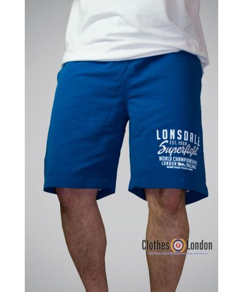 Krótkie spodenki Lonsdale London BIDEFORD niebieskie
