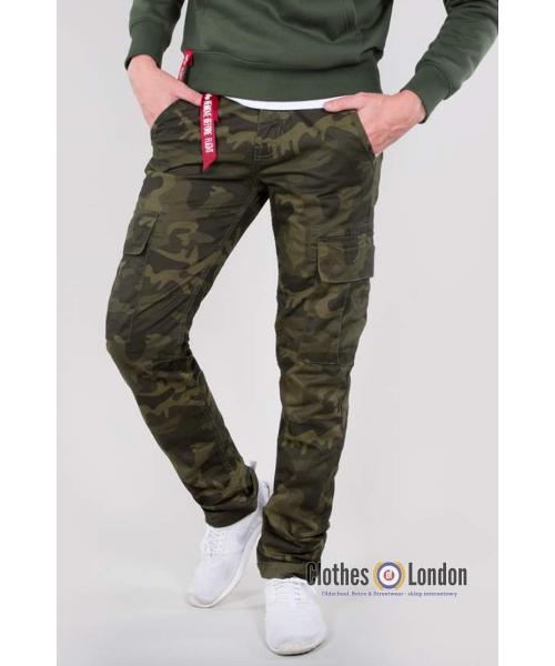 Spodnie bojówki ALPHA INDUSTRIES AGENT C Olive Camo