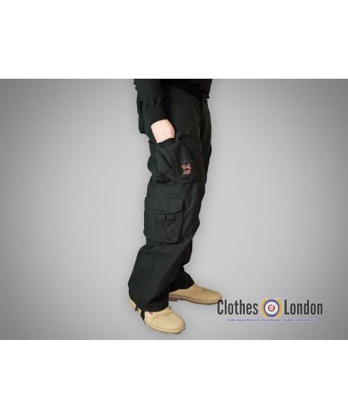 Spodnie bojówki Surplus Airbone Vintage Trousers Czarne
