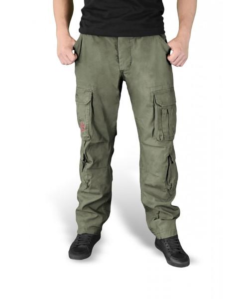 Spodnie bojówki Airborne Vintage Slimmy Trousers  Oliwkowe