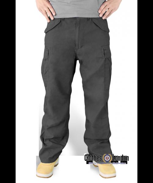 Spodnie bojówki Surplus Vintage Fatigues Trousers Czarne