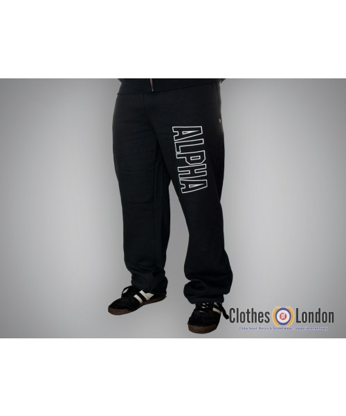 Spodnie dresowe Alpha Industries Track Pant Czarne