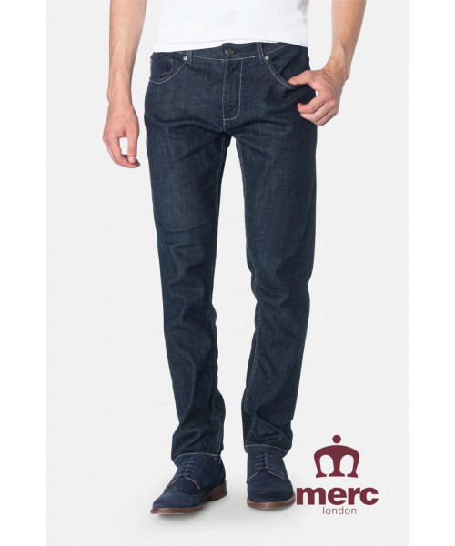 Spodnie jeansowe MERC LONDON ASHVILLE granatowe