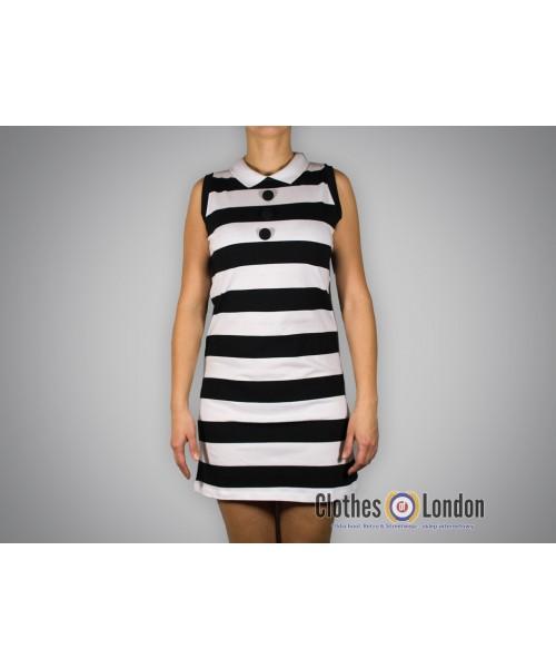 Sukienka Merc London Amellia Biało/ Czarna