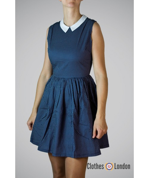 Sukienka Pop Boutique 50s Dress granatowa