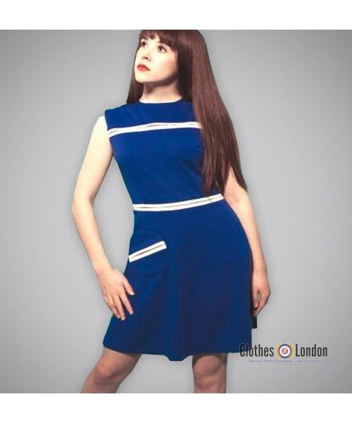 Sukienka Pop Butique Circle Pocket Dress Niebieska