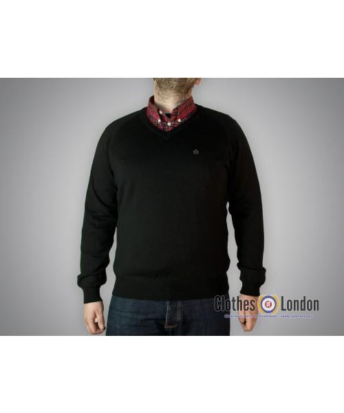 Wełniany sweter Merc London Conrad Czarny