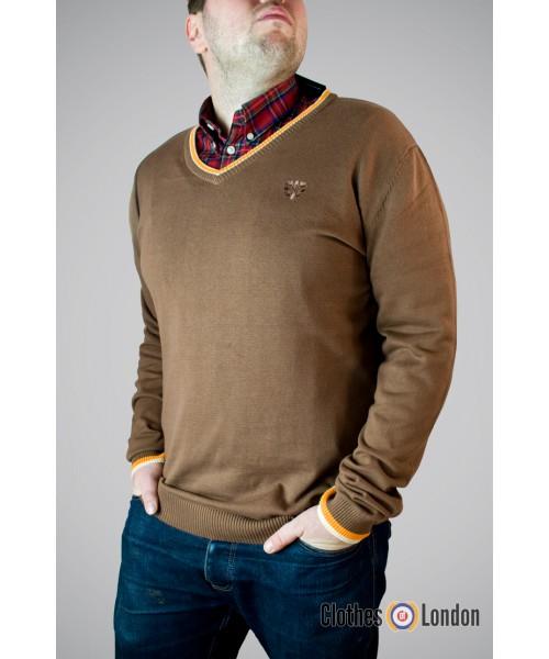 Sweter Warrior Basic Brązowy