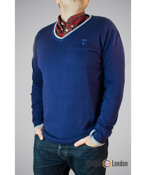 Sweter Warrior Basic Niebieski