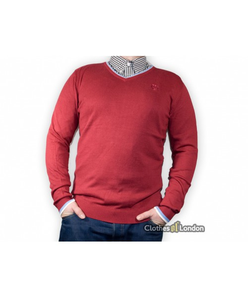 Sweter Warrior Clothing Basic Bordowy