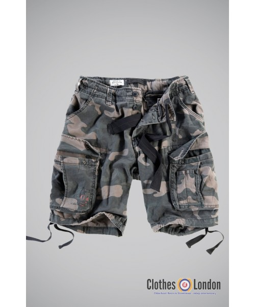 Szorty bojówki SURPLUS AIRBORNE VINTAGE SHORTS black camo