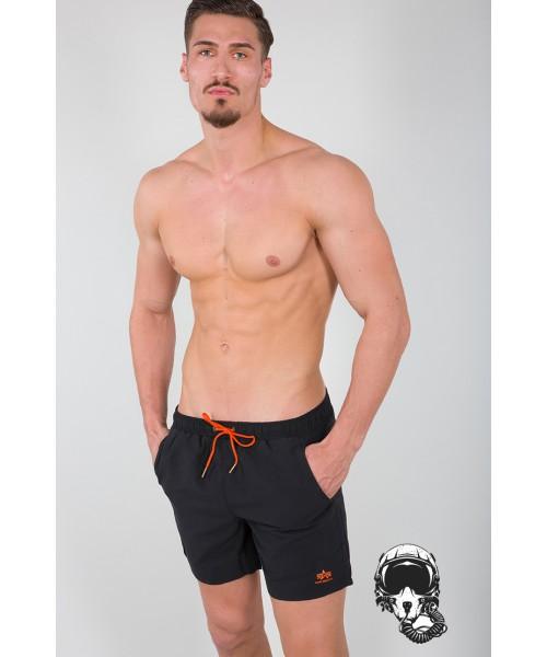 Szorty do pływania ALPHA INDUSTRIES BASIC Swim Short czarne