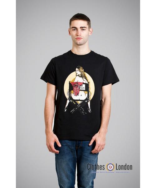 T- Shirt WEEKEND OFFENDER MOSS czarny