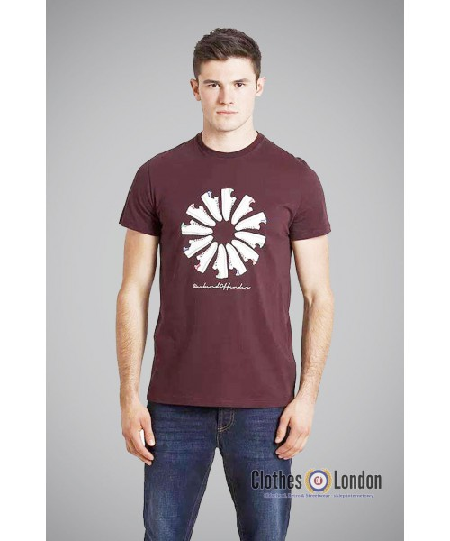 T- Shirt WEEKEND OFFENDER TRAINER WHEEL bordowy