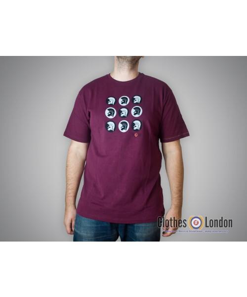 T-shirt Lambretta Trojan Records Logos Bordowa