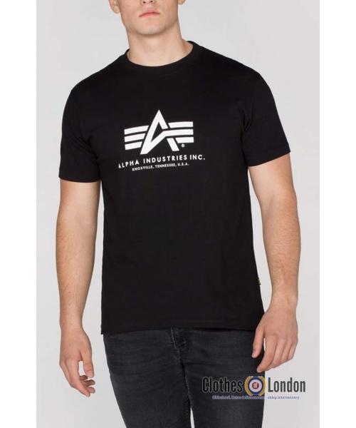 T-shirt ALPHA INDUSTRIES BASIC czarny