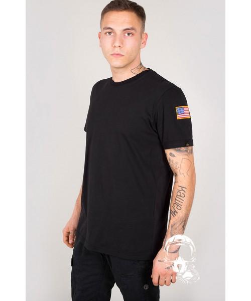 T-shirt ALPHA INDUSTRIES NASA T czarna