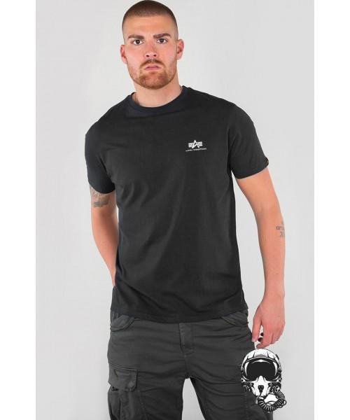 T-shirt ALPHA INDUSTRIES SMALL LOGO czarny