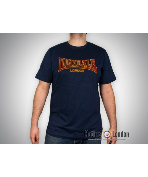 T-shirt Lonsdale London Classic Granatowy