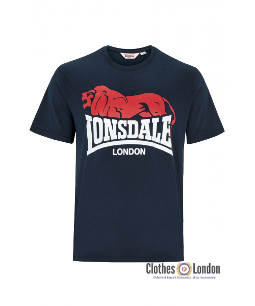 T-Shirt LONSDALE LONDON BERRY HEAD granatowy