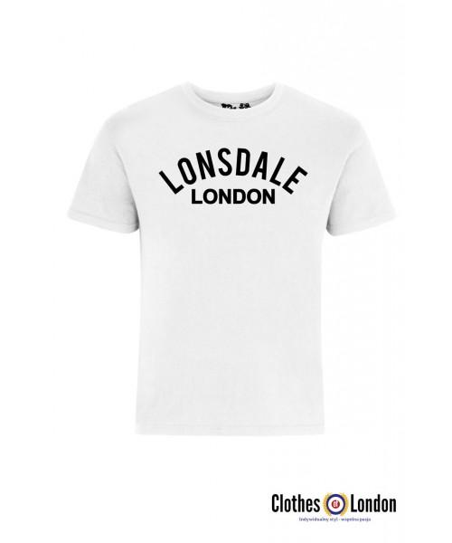 T-shirt LONSDALE LONDON BRADFIELD Biały
