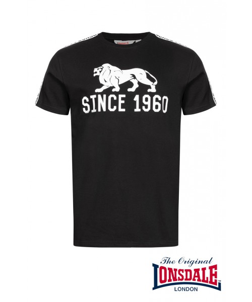 T-shirt LONSDALE LONDON BUNGAY Czarny