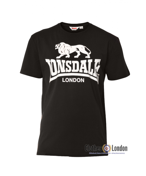 T-shirt  LONSDALE LONDON COAL Czarny