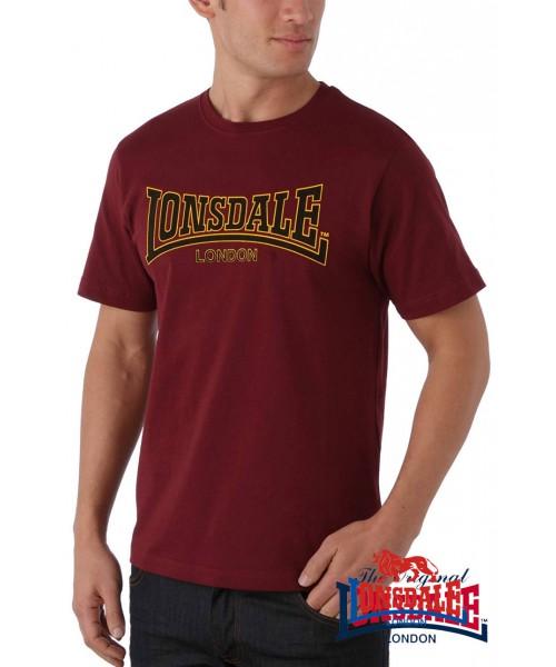 T-shirt Lonsdale London Classic Bordowa