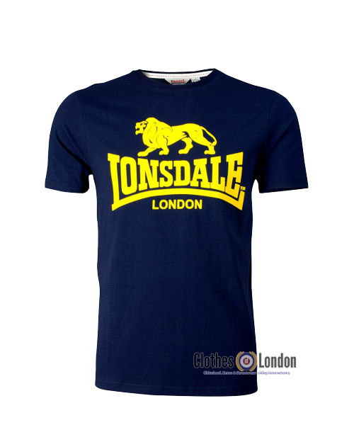T-shirt Lonsdale London Classic Smith Reload Granatowy