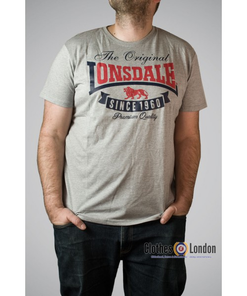 T-shirt Lonsdale London Corrie Szary