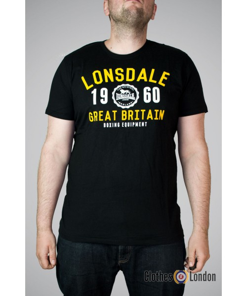 T-shirt Lonsdale London Eynsford Czarny