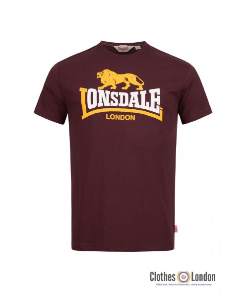 T-shirt LONSDALE LONDON HOLMPTON Bordowa