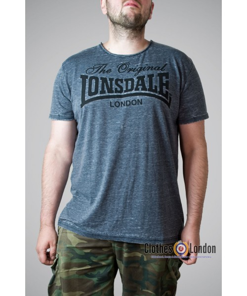 T-shirt Lonsdale London Horley Szary