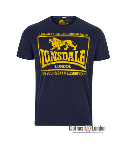 T-Shirt  LONSDALE LONDON HOUNSLOW granatowy