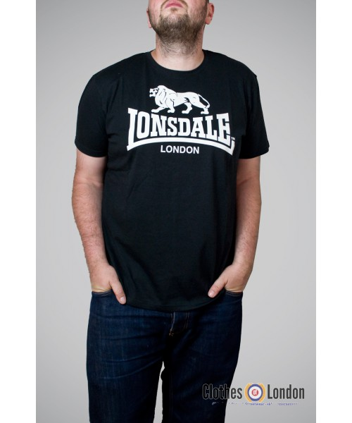 T-shirt  LONSDALE LONDON LOGO Czarny