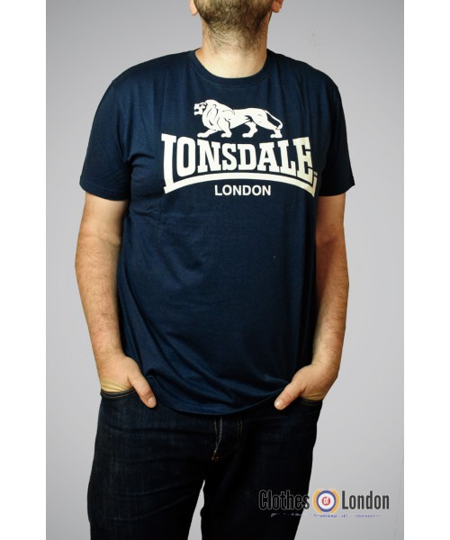 T-shirt LONSDALE LONDON LOGO Granatowy