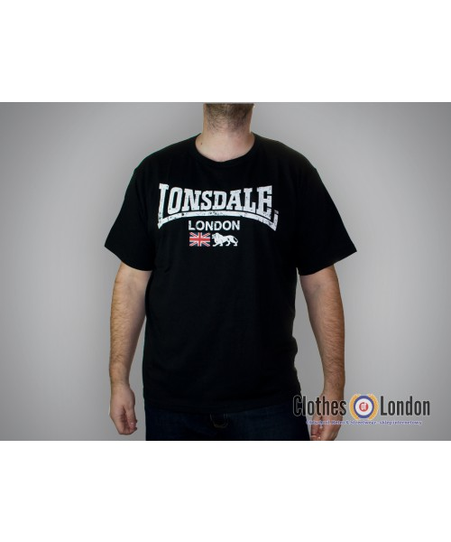 T-shirt LONSDALE LONDON ORMSKIRK Czarny