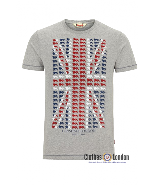 T-Shirt LONSDALE LONDON PETERLEE szary
