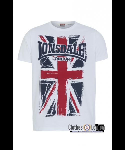 T-Shirt LONSDALE LONDON SOUTHAMPTON biał