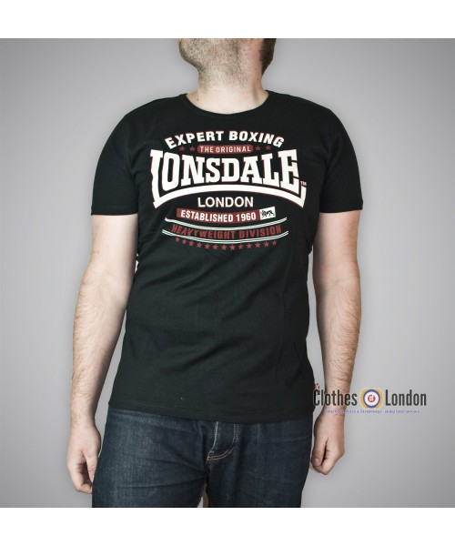 T-shirt Lonsdale London Swansea Czarny