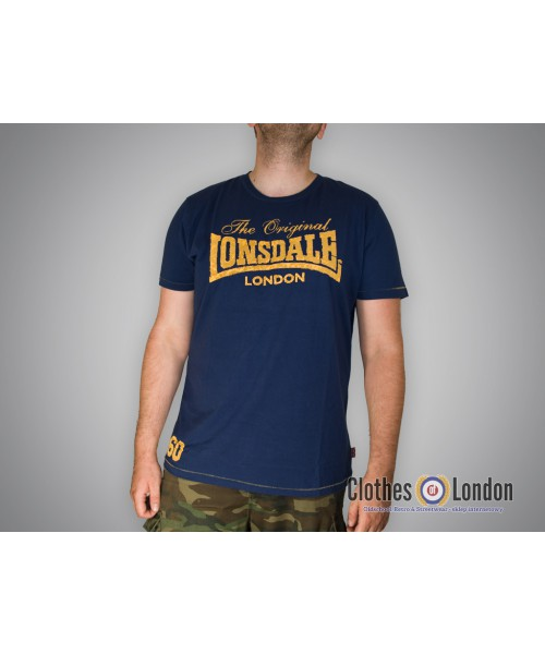 T-shirt Lonsdale London Swindon Granatowy