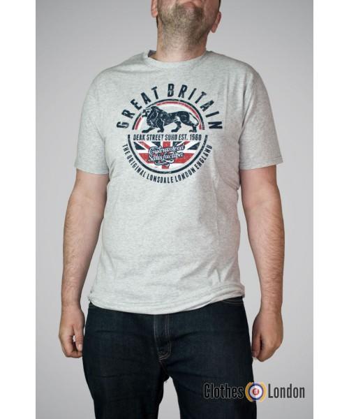 T-shirt Lonsdale London Shoreham Szary