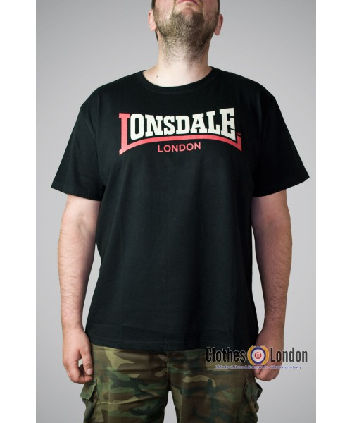 T-shirt Lonsdale London Two Tone Czarny