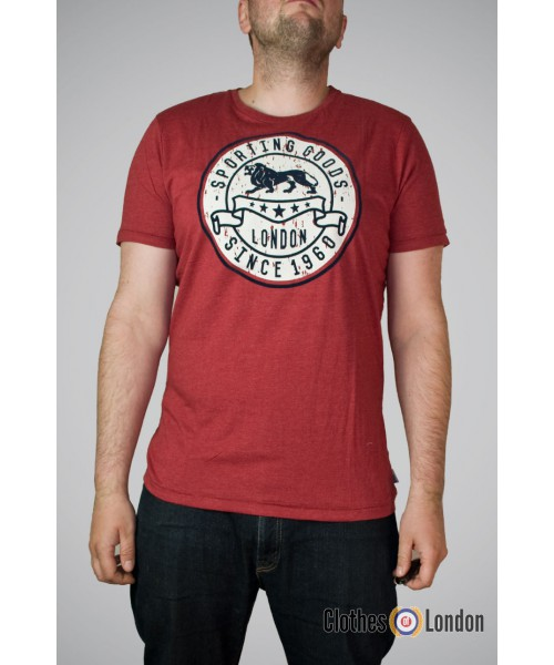 T-shirt Lonsdale London Wrotham Bordo