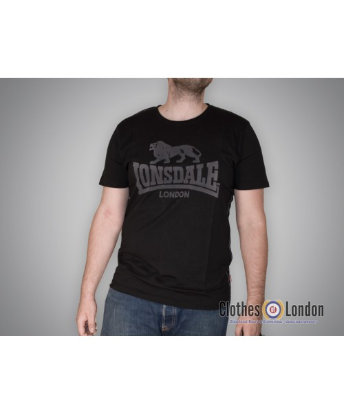 T-shirt Lonsdale London Classic Smith Reload Czarny