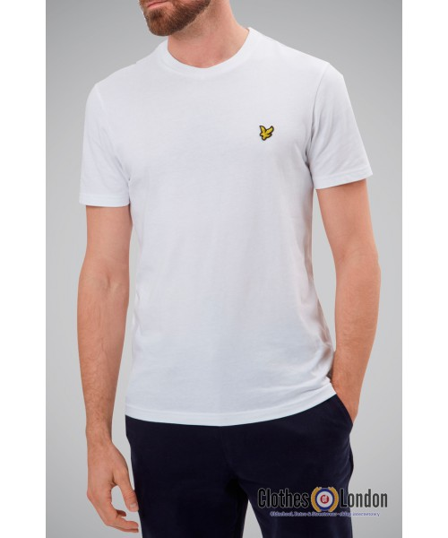 T-Shirt LYLE & SCOTT CREW NECK biały