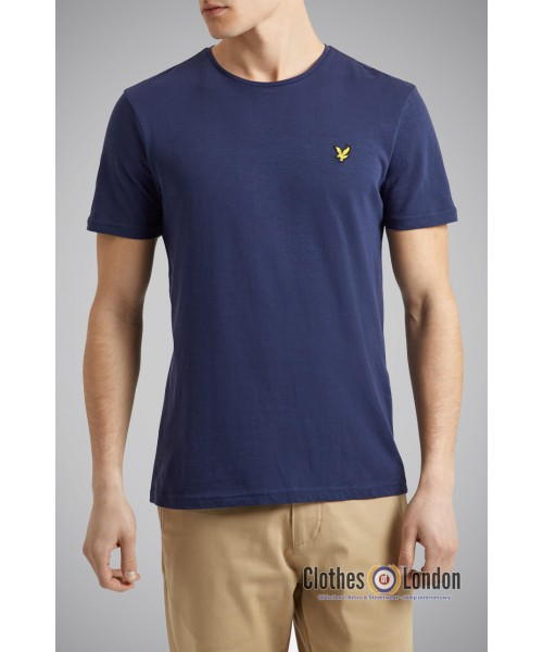T-Shirt LYLE & SCOTT CREW NECK granatowy
