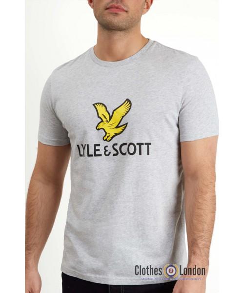 T-Shirt LYLE & SCOTT NEW LOGO Szara